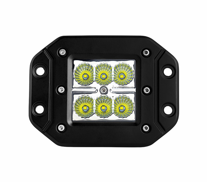 Square 18W Led Work Light Flash Mount